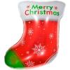 Шар (24''/61 см) Фигура, Новогодний носок для подарков, Красный, 1 шт.