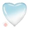 Шар (32''/81 см) Сердце, Голубой, Градиент, 1 шт.