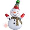 Шар (39''/99 см) Фигура, Веселый снеговик, 1 шт.