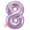Шар (40''/102 см) Цифра, 8, Slim, Сиреневый, в упаковке 1 шт.