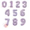 Шар (40''/102 см) Цифры, Slim, Сиреневый, с гелием