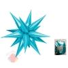 Шар фольга Звезда составная 12 лучиков Светло- Голубой в упаковке / Light Blue