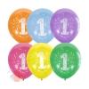 """Шар латексный 12"""" «Цифра 1», пастель, 2-сторонний, набор 10 шт., цвета МИКС"""