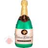 Шар с клапаном (17''/43 см) Мини-фигура, Бутылка, Шампанское вино, 1 шт.