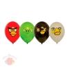 Шар с рисунком 14 Angry Birds 3 цвета (25 шт.)