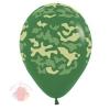 Шар Воздушный Шелк Камуфляж Темно-Зеленый Пастель 5 ст (12 шт)