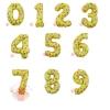 Шары (34''/86 см) Цифры Веселые картинки, Желтый, с гелием