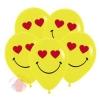 Смайл влюбленный, Желтый Пастель, 2 ст. 2 цв. (12 шт.)