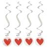 Спираль серпантин Сердце (набор 4 шт)