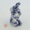 Сувенир Пёс Барбос гжель кобальт 12 см × 8 см × 5,5 см