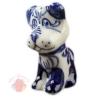 Сувенир Собака Тузик гжель фарфор 7,5 см × 5 см × 3,5 см