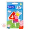 Свеча для торта цифра 4 Peppa Pig