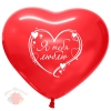 Т 12 Сердце Я тебя люблю Красное Пастель (100 шт.)