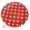 Тарелки Горох Белый на красном 18 см  (6шт.)