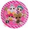 Тарелки Металик Куклы ЛОЛ / LOL Glitterati, 20 см 8 шт.