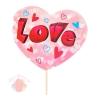 Топпер - открытка LOVE сердечки (10 шт.)