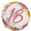 """Цифра """"18"""" Мрамор Розовое золото"""
