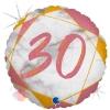 """Цифра """"30"""" Мрамор Розовое золото"""