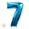 Цифра 7 синий 102 см.