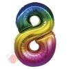 """Цифра """"8"""" радуга в упаковке / Zero"""