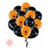 """Воздушные латексные шары """"Пауки"""" с рисуном 15 штук, с гелием"""