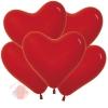 Воздушные шары Сердце Красный, Пастель Red