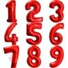 Воздушные шары Цифры, красный с гелием