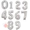 Воздушные шары Цифры серебро с гелием