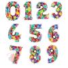 Воздушные шары Цифры, шарики с гелием
