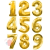 Воздушные шары Цифры золото с гелием