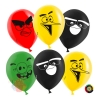 Воздушный шар (12''/30 см) Angry Birds, Ассорти, пастель, 2 ст, 50 шт.