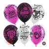 Воздушный шар 12/30 см Девичник, Ассорти пастель, 5 ст, 100 шт.