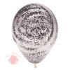 Воздушный шар (12''/30 см) Граффити, Мраморный узор, Прозрачный (390), кристалл, 25 шт.