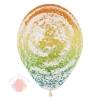 Воздушный шар (12''/30 см) Граффити, Радуга, Прозрачный, кристалл, 25 шт.