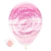 Воздушный шар (12''/30 см) Граффити, Розовый муар, Прозрачный, кристалл, 25 шт.