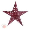 Звезда бумажная 30 см голографическая красная