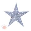 Звезда бумажная 30 см голографическая серебряная