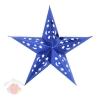 Звезда бумажная 30 см голографическая синяя