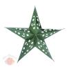 Звезда бумажная 30 см голографическая зеленая