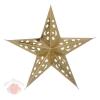 Звезда бумажная 30 см голографическая золотая