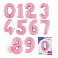 ЦИФРЫ  Пастель Pink 102 см с гелием