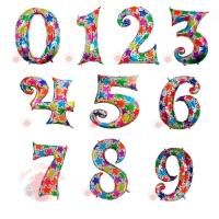 Воздушные шары Цифры голография с гелием