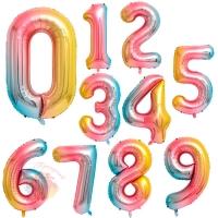 Воздушные шары Цифры, градиент с гелием