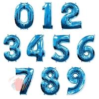 Воздушные шары Цифры, синий с гелием