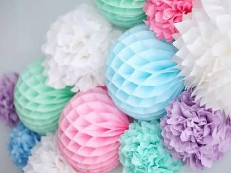 Как сделать  шары из тишью 19